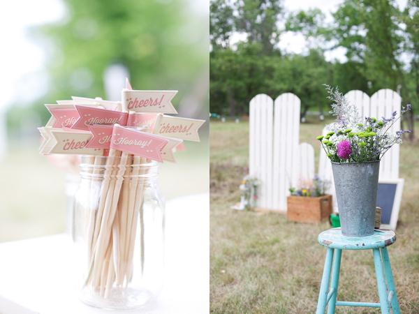 3 detalles altar boda en mint y blanco
