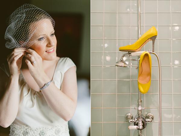 3 Una boda moderna en amarillo y gris