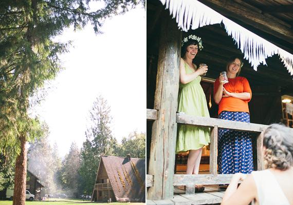 4 boda en el bosque cabañas
