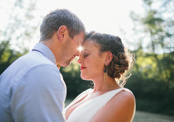 4 fotos boda en el bosque novios