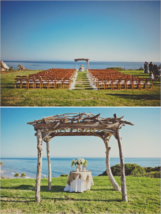 5 detalle decoración altar boda aire libre