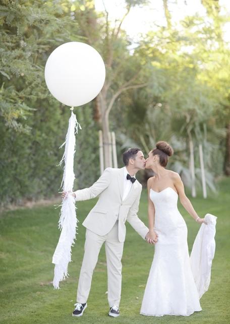 6 fotos boda novios globo