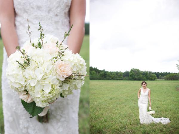 6 ramo novia boda en mint y blanco