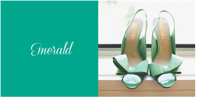 Colores boda otoño 2013 emerald