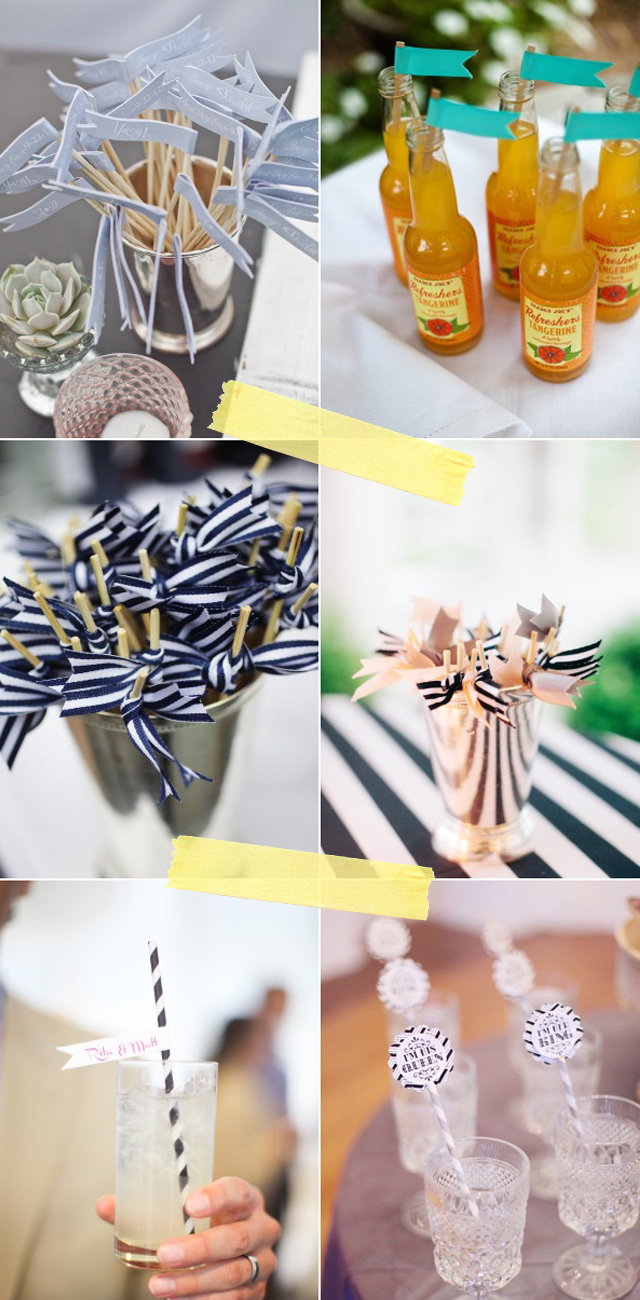 ideas boda pajitas de rayas