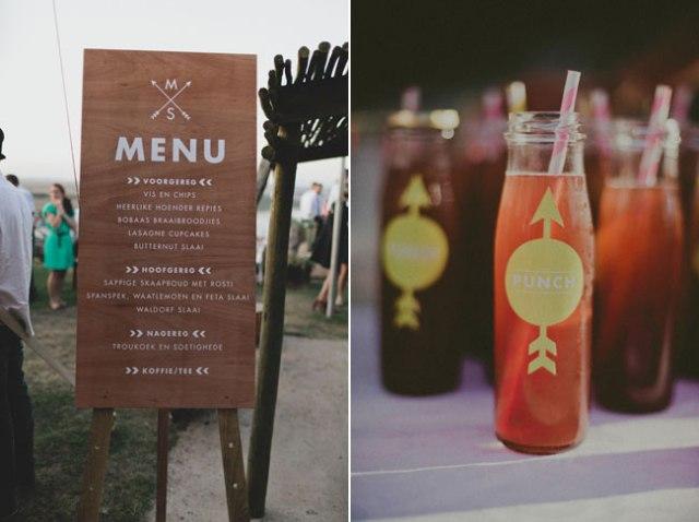 12 menu de boda en pancarta