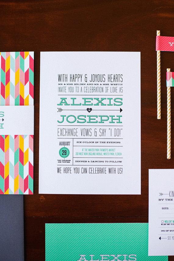 3 invitaciones modernas y coloristas