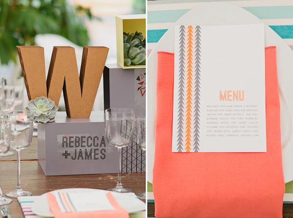 4 decoracion bodas formas geométricas
