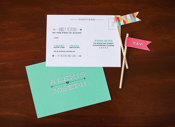 4 invitaciones modernas y coloristas