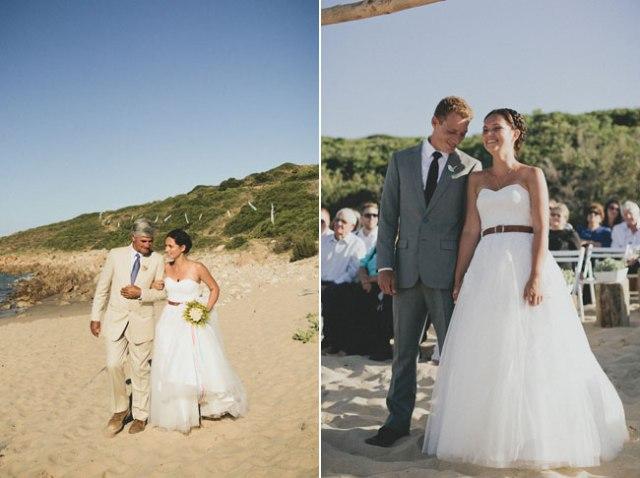 5 fotos novios en la playa boda