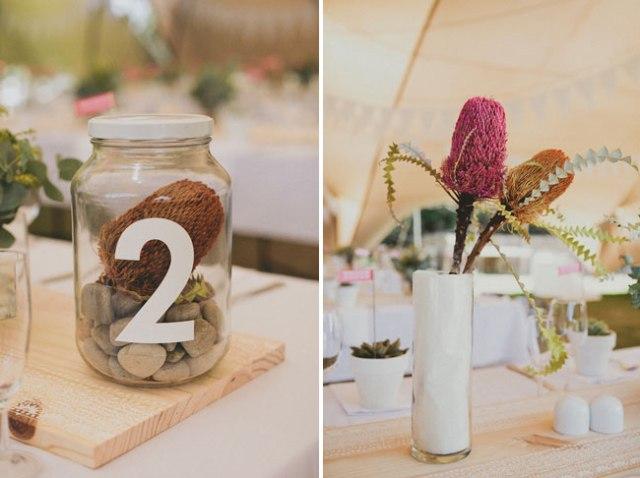 9 centros de mesa originales suculentas boda