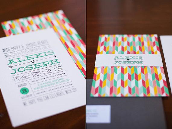 invitaciones modernas y coloristas