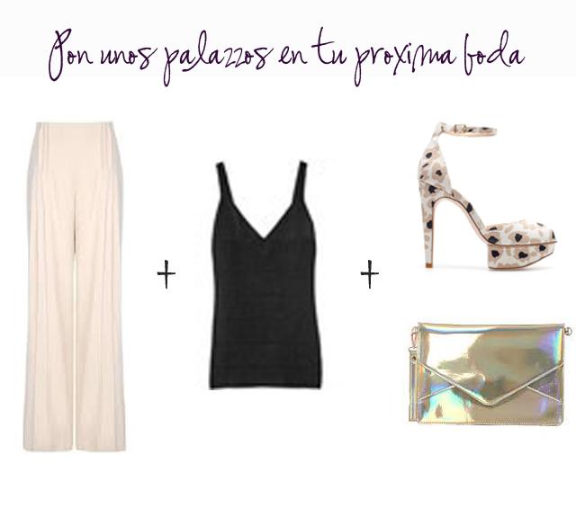 look invitada boda pantalones palazzo