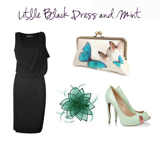 outfit boda vestido invitada little black dress mint