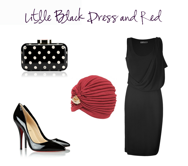 outfit boda vestido invitada little black dress rojo