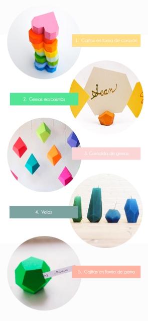 tutorial diy formas geométricas