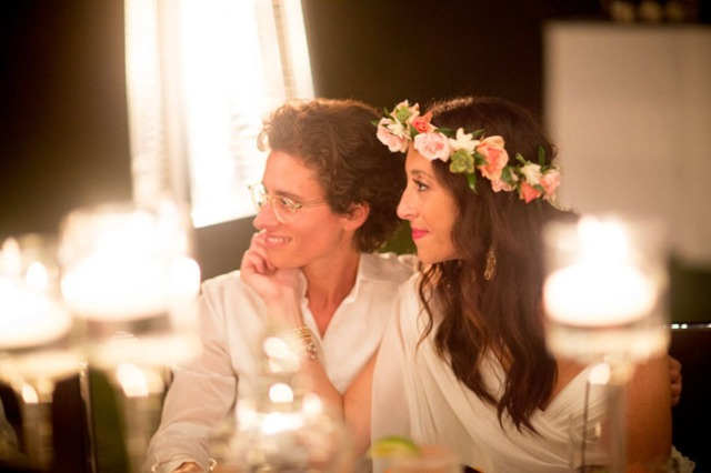 12 boda lesbiana novia corona de flores