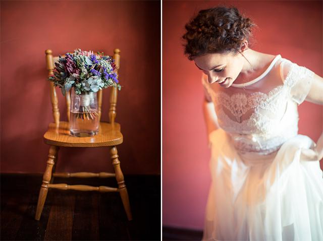 6 ramo novia vestido romantico