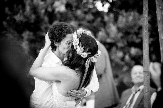7 boda lesbiana beso novias