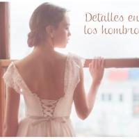 Vestidos de novia: detalles en los hombros