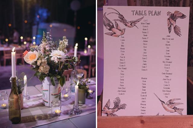 11 Boda moderna rustica en un almacen  seating plan panel de invitados boda
