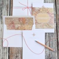 Imprimible: tarjetas y sobre viajeros