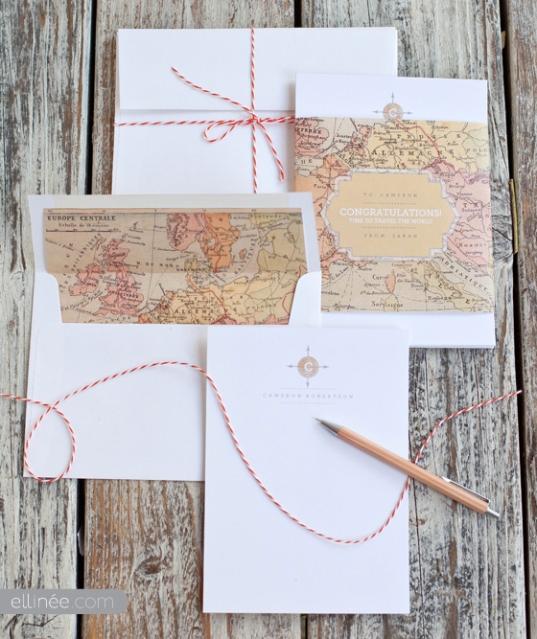 5 Descargable mapa viaje boda cumpleaños