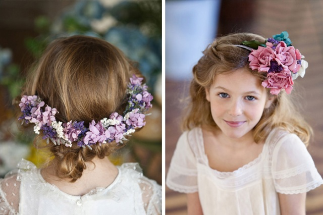 Ramos de novia Sally Hambleton Corona flores niños