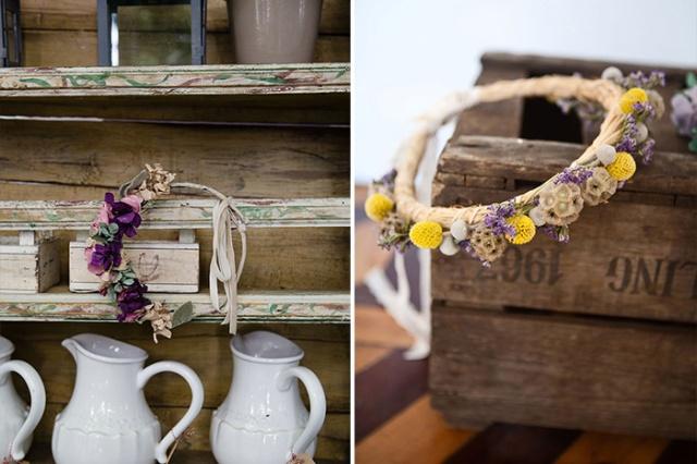 Ramos de novia Sally Hambleton Corona flores