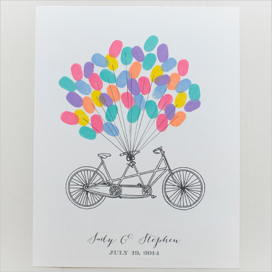 imprimible boda bicicleta