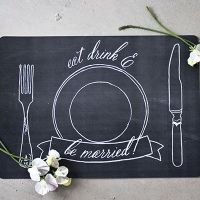 Imprimibles: Mantel individual para bodas