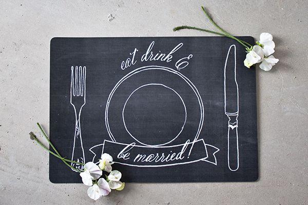 imprimible mantel individual boda estilo pizarra (5)