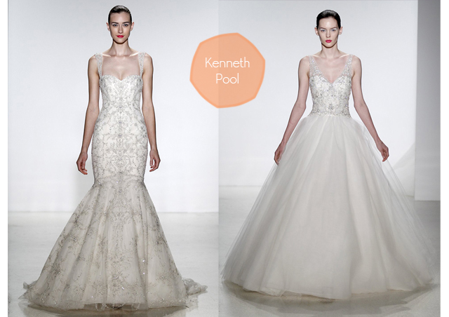 kenneth pool wedding gowns vestidos de novia 2014