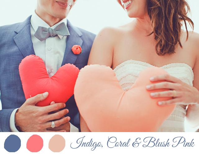 colores para boda 2014 azul coral rosa