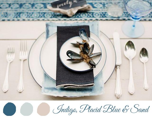 colores para boda 2014 indigo azul cielo y arena
