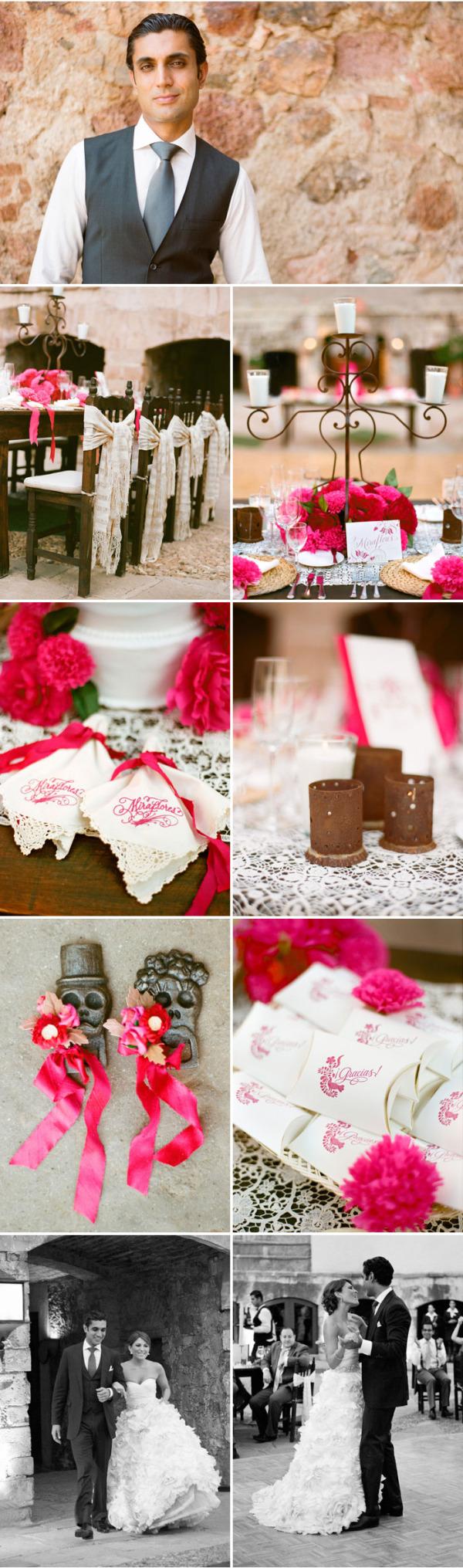 Colorida boda mexicana rosa (10)
