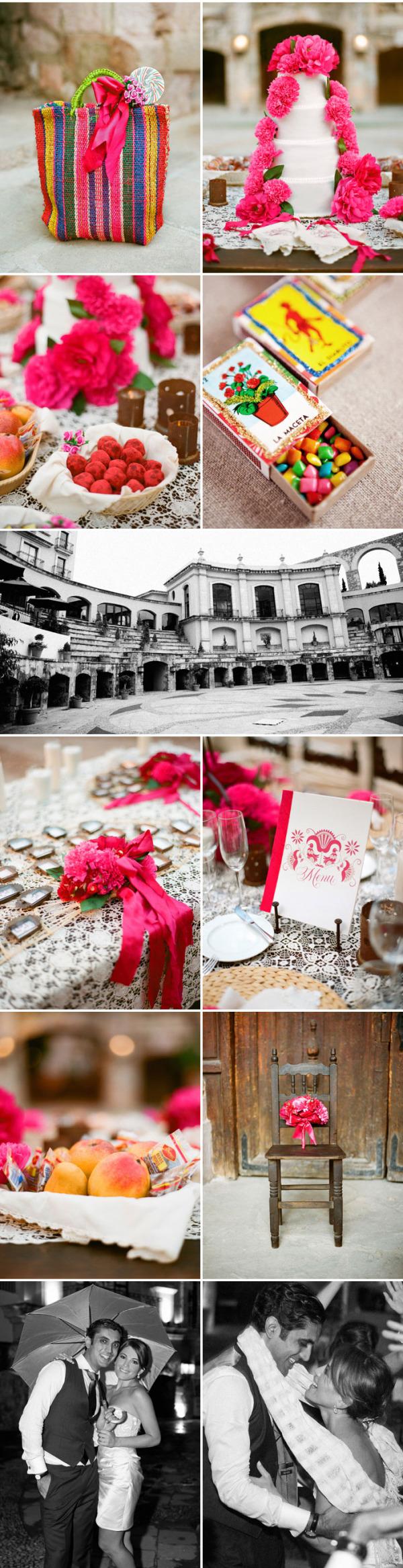 Colorida boda mexicana rosa (11)