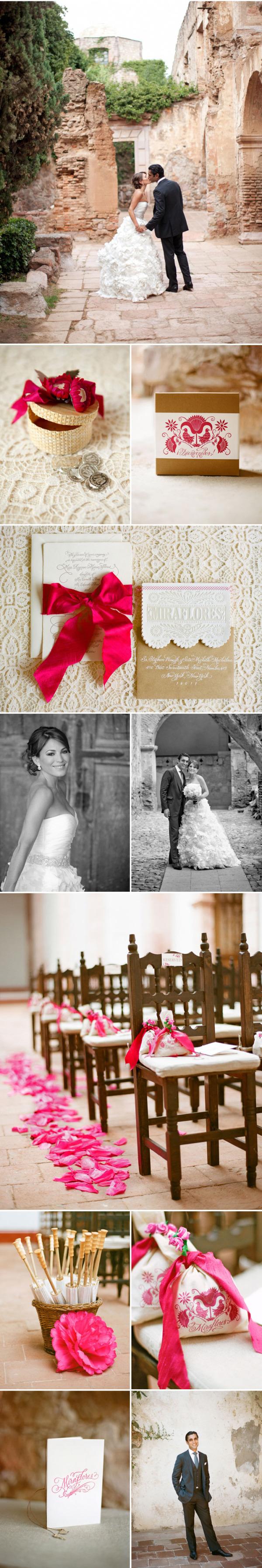 Colorida boda mexicana rosa (3)