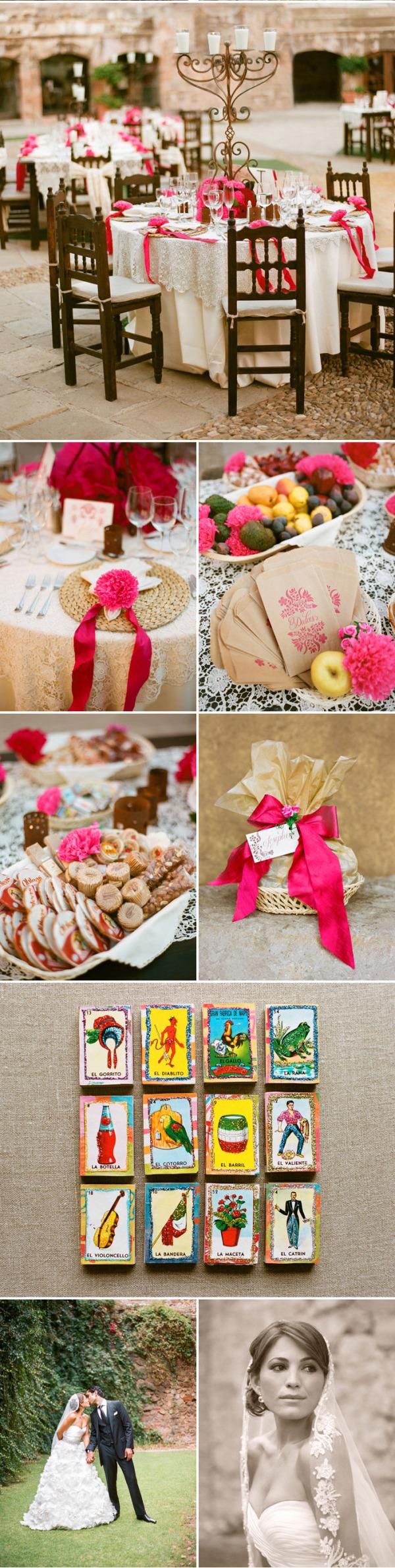 Colorida boda mexicana rosa (9)