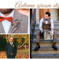 Trajes de novio para una boda de otoño