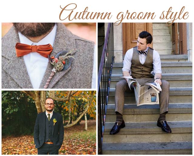 estilo novio otoño traje
