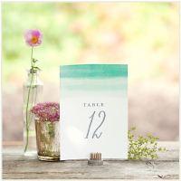 5 imprimibles para numerar las mesas de tu boda