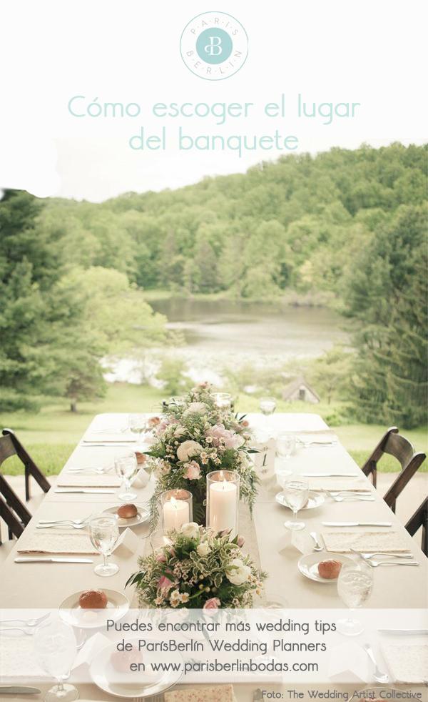 cómo escoger el lugar del banquete boda lcw