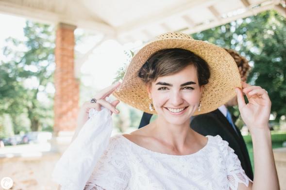 novia vestido años 50 con pamela (5)