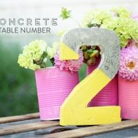 Tutorial: Números de mesa de cemento