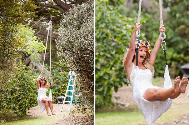 boda al aire libre novia vestido corto corona de flores boda diferente original picnic (12)