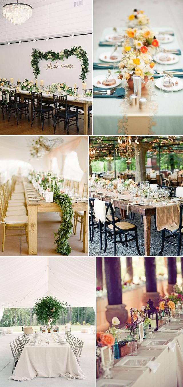 mesas largas boda decoracion