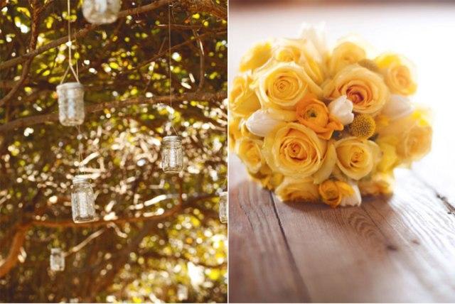 decoración boda amarillo colores estilo rústico (2)