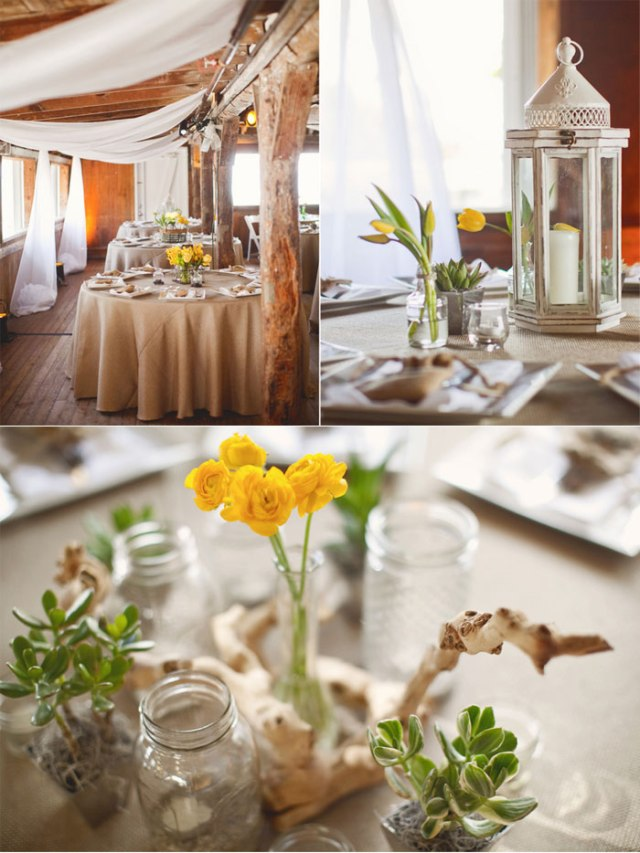 decoración boda amarillo colores estilo rústico (4)