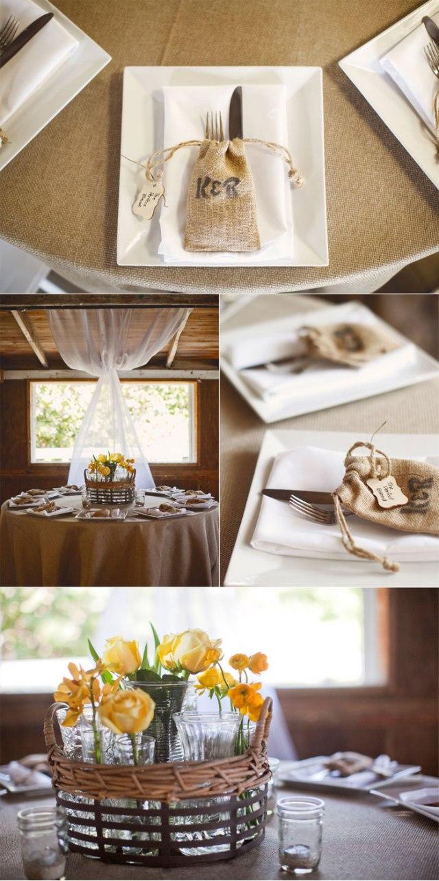 decoración boda amarillo colores estilo rústico (5)
